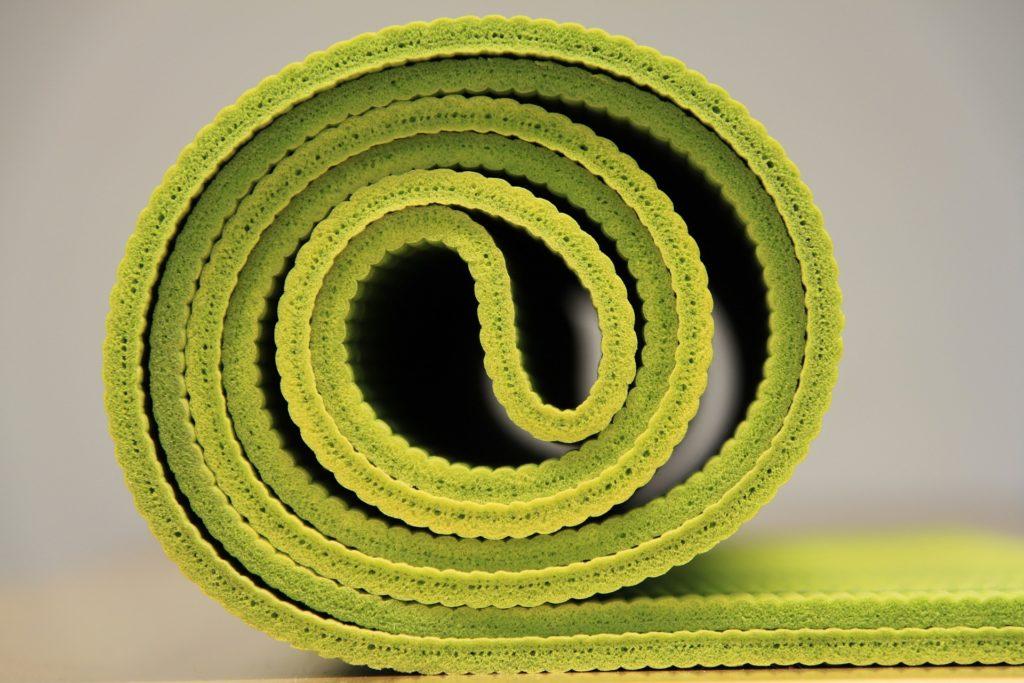 Materassino verde per esercizi di chinesiterapia pelvi-perineale